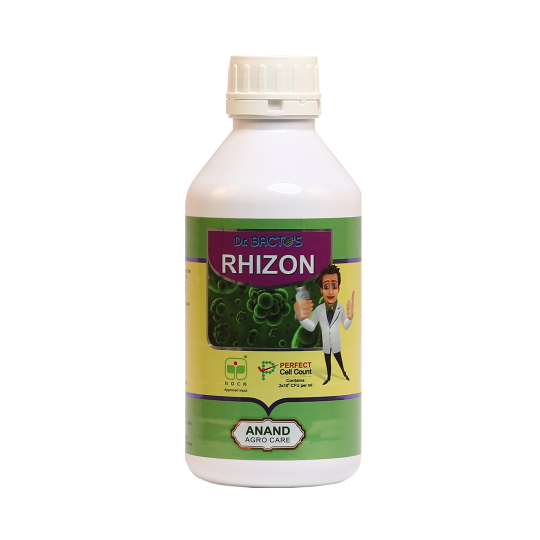 Dr. Bacto's RhizoN, Rhizobium spp, which fixes the atmospheric nitrogen and makes it available to le
